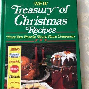 Vintage 'Treasury of Christmas Recipes' cookbook